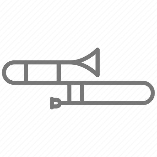 band, horn, instrument, marching, music, trombone, winds icon