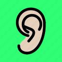 ear, hear, icon icon