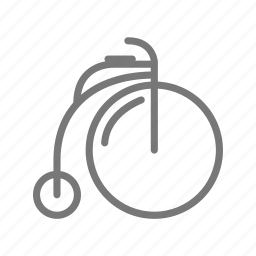 bicycle, bike, cycle, old fashioned, ride, vintage, wheel icon