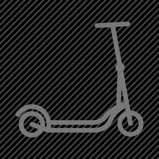 bicycle, bike, push, razor, scooter, stand, wheel icon