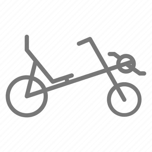 bicycle, bike, cycling, recumbant, ride, seated, wheel icon