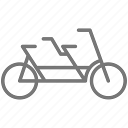 bicycle, bike, cycling, double, ride, sport, wheel icon