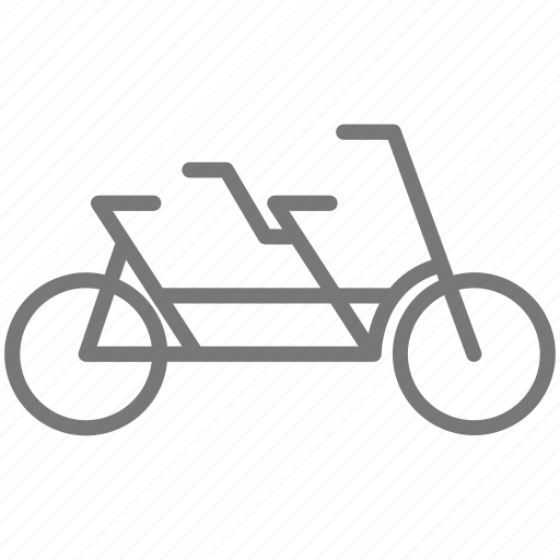 bicycle, bike, cycling, double, ride, tandem, wheel icon