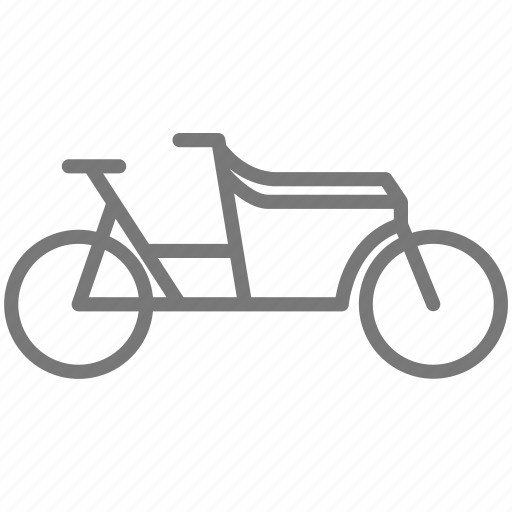 basket, bicycle, bike, commute, commuter, family, ride icon