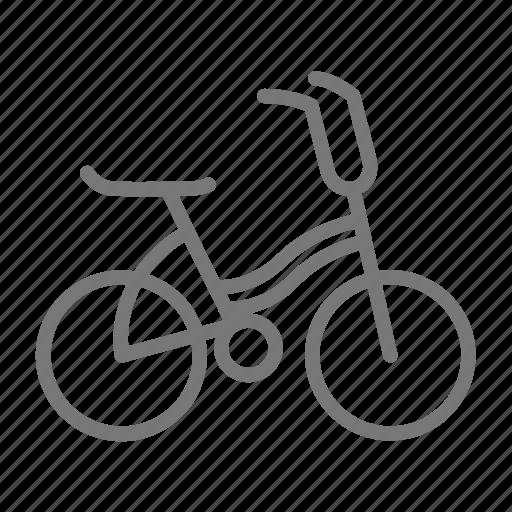 banana seat, bicycle, bike, child, kid, ride, wheel icon