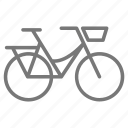 basket, bicycle, bike, commuter, ride, wheel, cycle