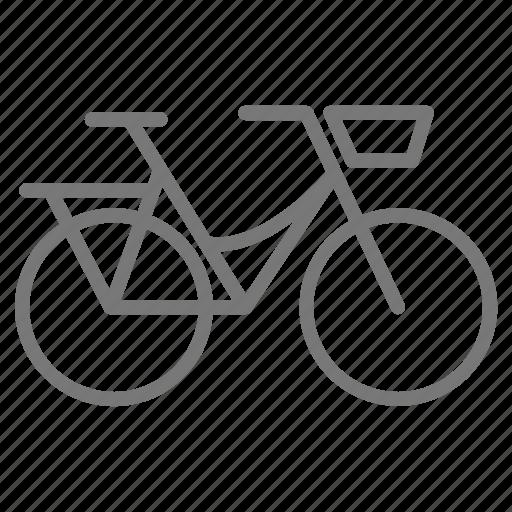 basket, bicycle, bike, commuter, cycle, ride, wheel icon