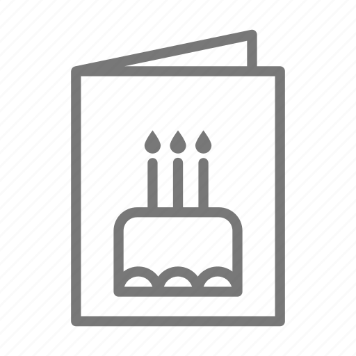 birthday, card, greeting, open, paper icon