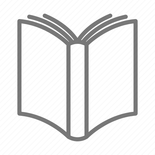 book, cover, library, open, pages icon