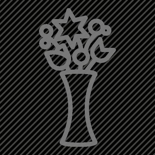 bouquet, bud, floral, flower, vase icon