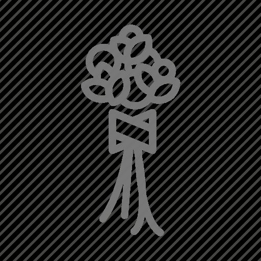 bouquet, floral, flower, hold, stem, wedding, wrap icon