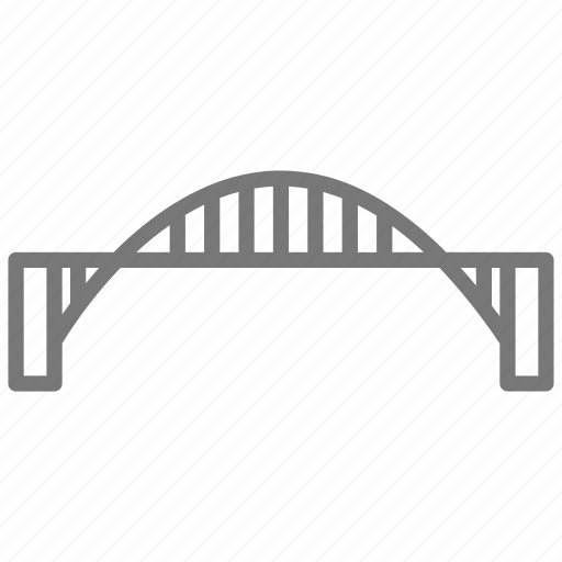 bridge, cross, metal, road, suspension, travel, vehicle icon