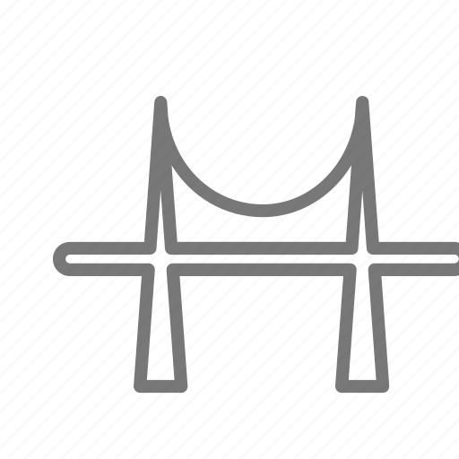 bridge, cross, metal, road, suspension, tourism, travel icon