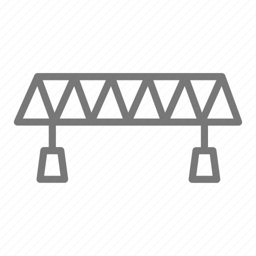 bridge, cross, metal, railroad, road, suspension, transportation icon