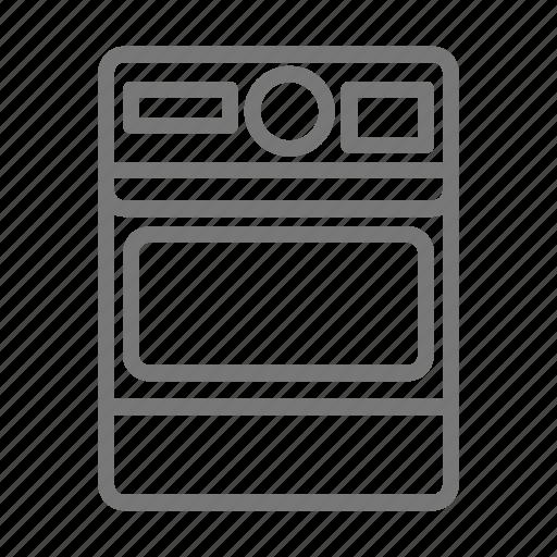 Camera film flash instant kodak photo polaroid icon for Camera minimal