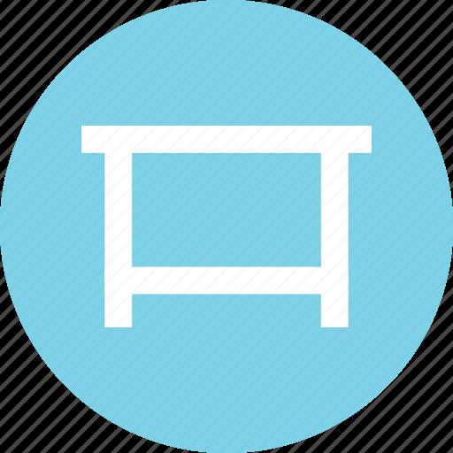 desk, furniture, table, table icon icon