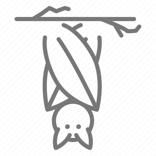 Bat Bird Nocurnal Upsidedown Icon