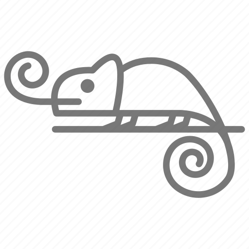 Chameleon, lizard, reptile, tail, tongue icon - Download on Iconfinder