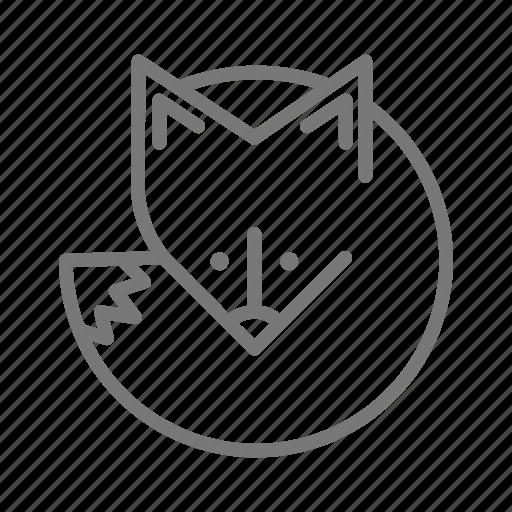 animal, den, fox, zoo icon