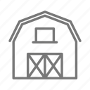 barn, farm, hay, horse, livestock, midwest, wood icon