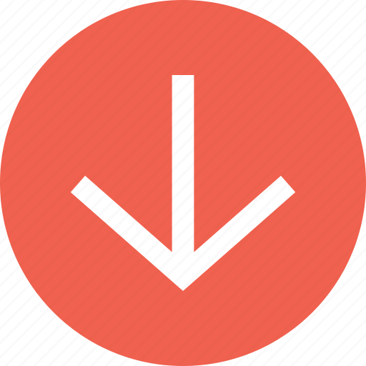 Bottom, down, down arrow, down sign, south, south direction icon - Download on Iconfinder