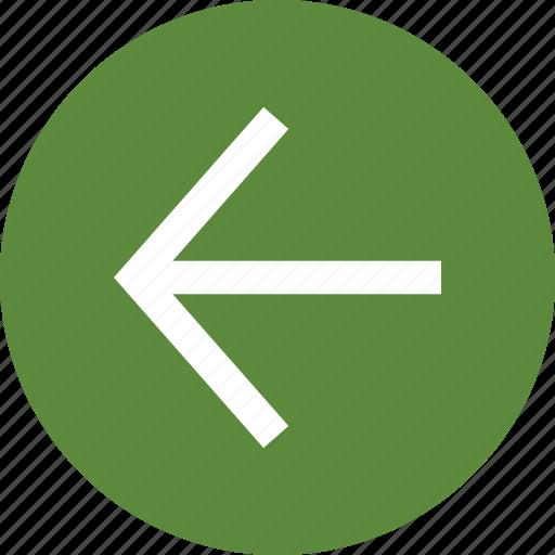 Back, back arrow, left arrow, left direction, undo, west direction icon - Download on Iconfinder
