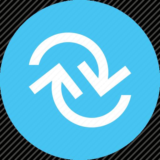 ajax, horizontal, load arrow, loading, reload icon