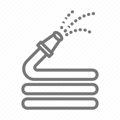 flowers, garden, hose, outdoors, plant, spinkle, water icon