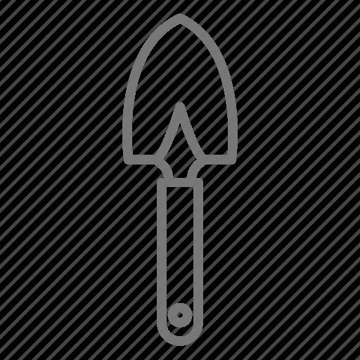 garden, hand, shovel, soil, tool, trowel icon