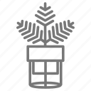 fern, houseplant, palm, plant, stand icon