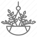 hanging, houseplant, plant icon