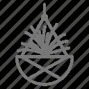 hanging, houseplant, plant, spider icon