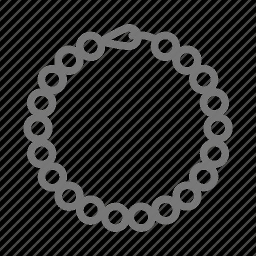 bead, bracelet, jewelry, necklace, pearl icon