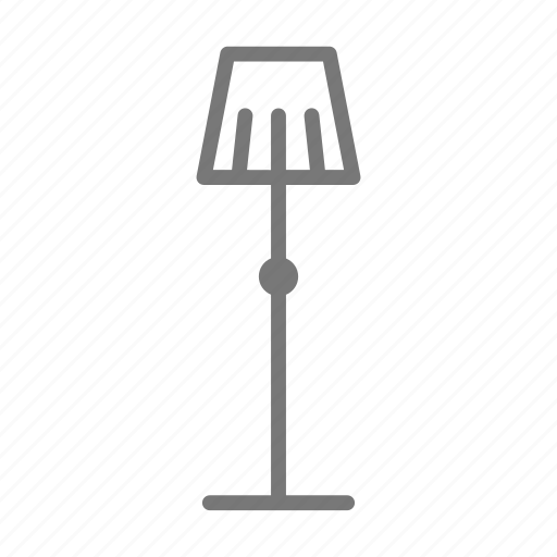 lamp, light, living room, shade, standing icon