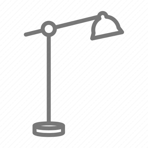 lamp, light, office, shade, stand icon