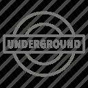 london, metro, transit, tube, tunnel, underground icon
