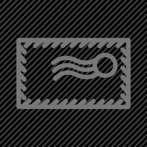 address, envelope, international, letter, mail icon