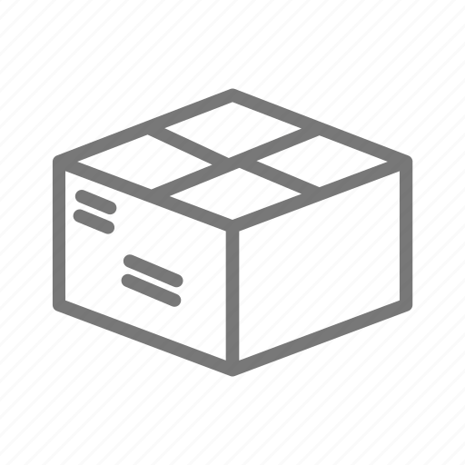 address, box, mail, package, postage, ship icon