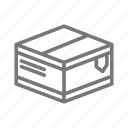 box, mail, package, postage, ship, stamp icon