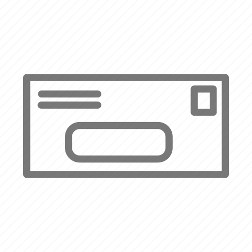 address, bill, letter, mail, postage, stamp icon