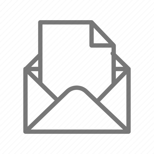 email, letter, mail, message icon