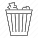 can, office, paper, trash icon