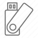 drive, flash, office, thumb icon