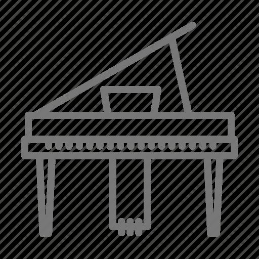 Keys, orchestra, symphony, music, grand, piano icon