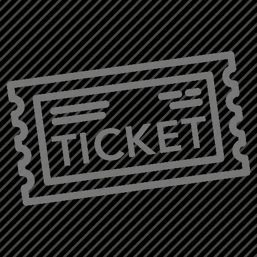 event, movie, paper, stub, ticket icon