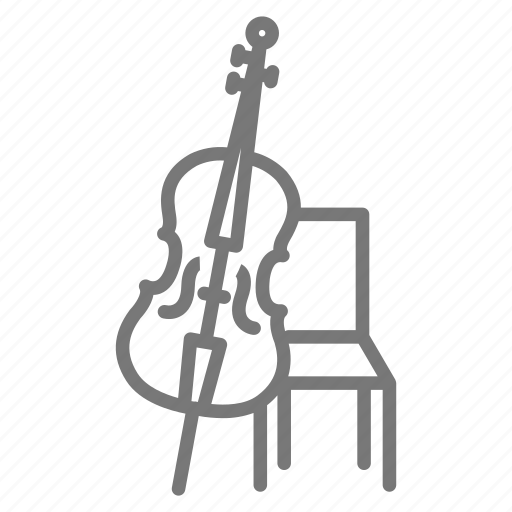 Orchestra, bow, base, cello, strings, instrument icon