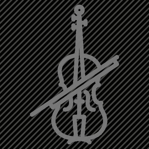 bow, orchestra, strings, symphony, viola, violin icon
