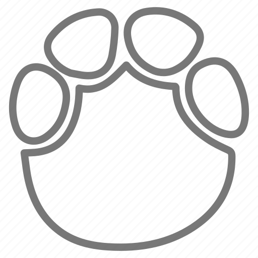 elephant, foot, footprint, print icon