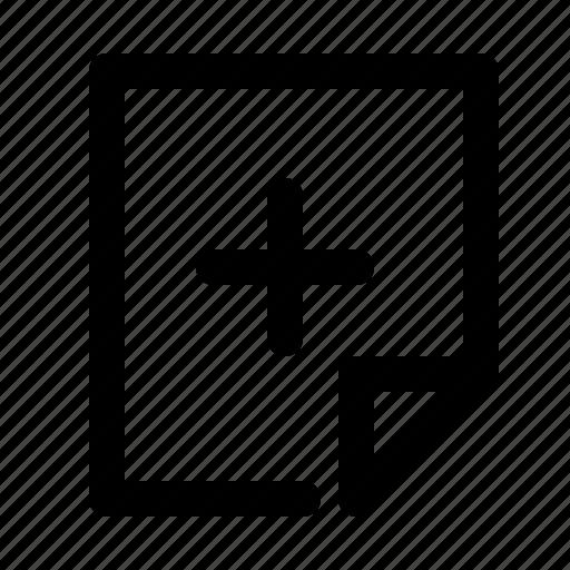 add, document, file, new icon