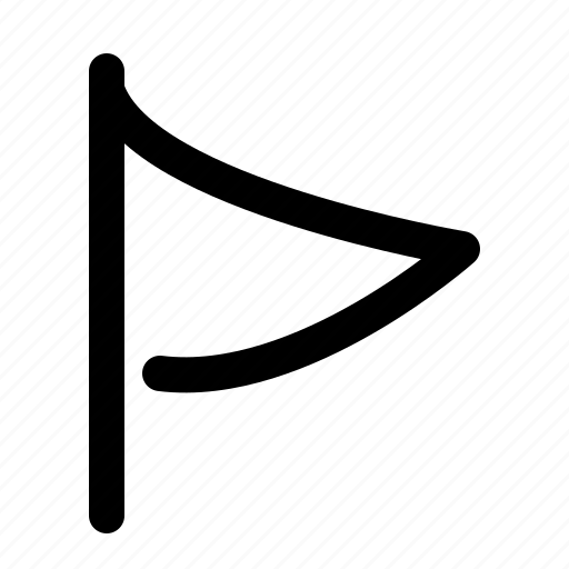 flag, golf, location, pointer, sport icon